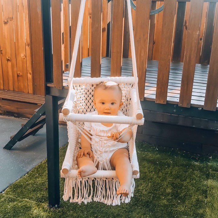 HAND CRAFTED MACRAME BABY SWING - Petit Luxe Bebe