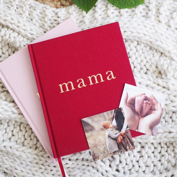 Mama - Tell me About It, Maroon Journal - Petit Luxe Bebe