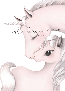 MILA & MUM - Whimsical Unicorn Art Print