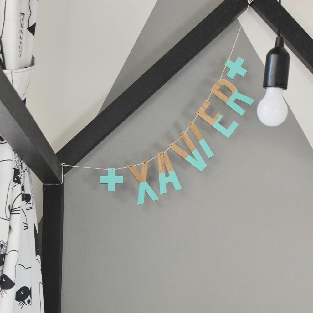 Custom Personalised Name Garland - Petit Luxe Bebe
