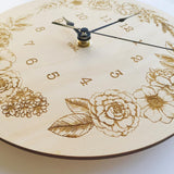 Nursery Wall Clocks - Bamboo Flowers