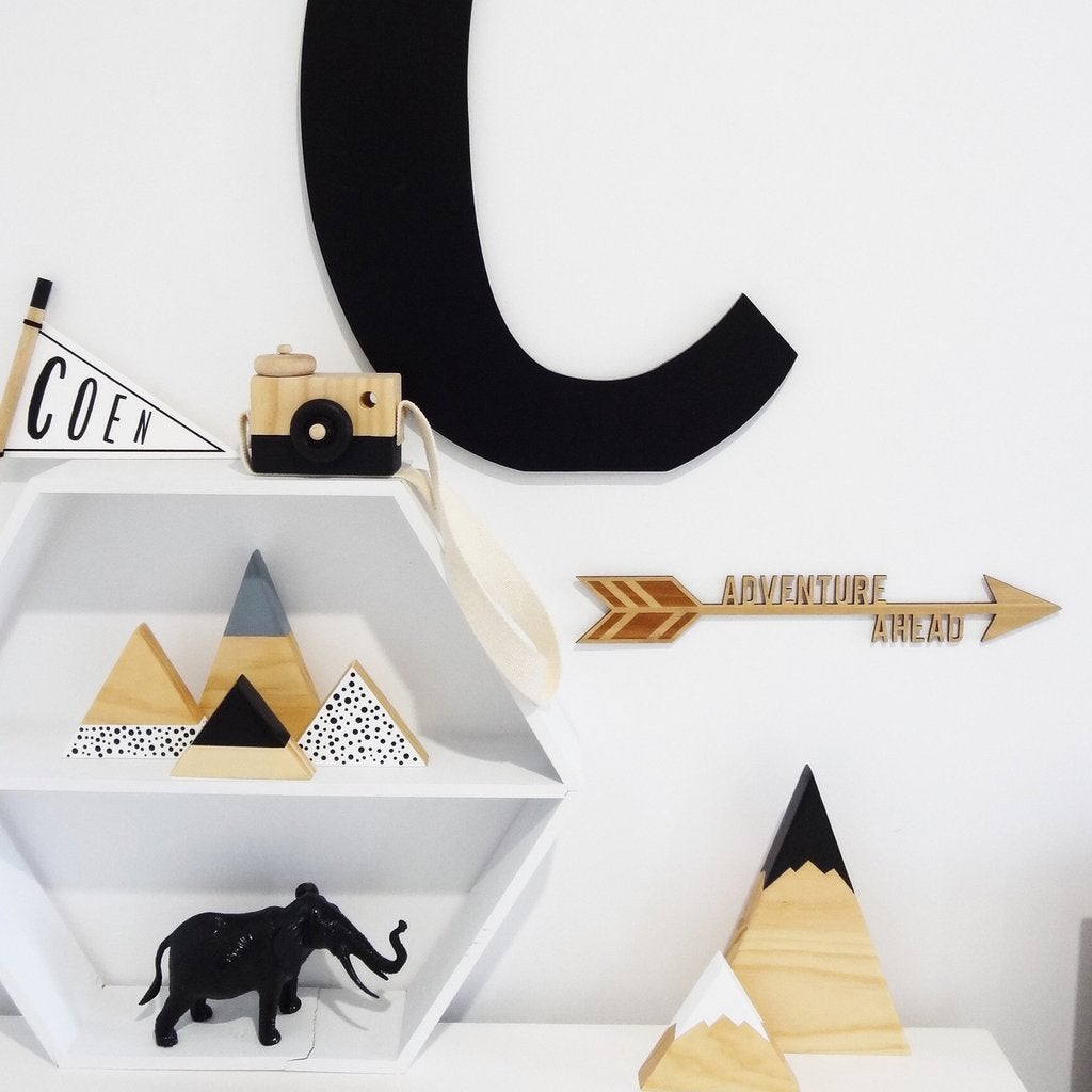 Adventure Ahead Nursery Wall Art | Flatlay Accessory - Petit Luxe Bebe