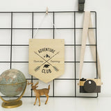 'Adventure Club' Bamboo Wall Hanging | Nursery Wall Art - Petit Luxe Bebe
