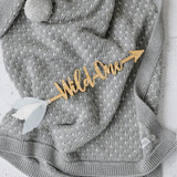 Customised 'WILD ONE' Bamboo Arrow - Petit Luxe Bebe