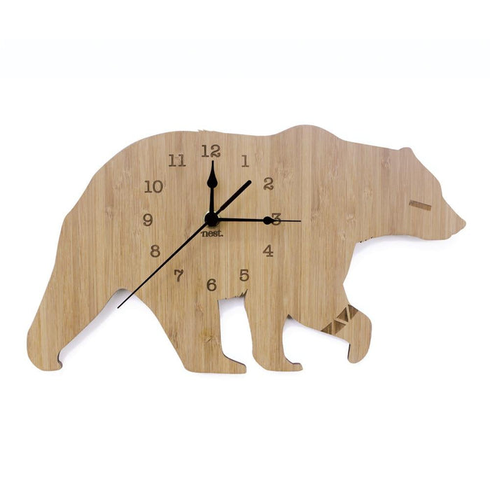 Nursery Wall Clocks - Bamboo Bear