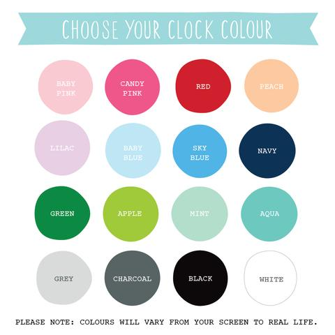 Nursery Wall Clocks - Bear - Petit Luxe Bebe