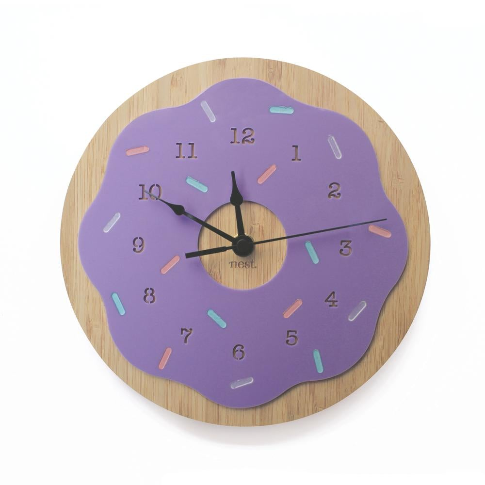 Nursery Wall Clock - Donut (6 Colours to choose from!) - Petit Luxe Bebe