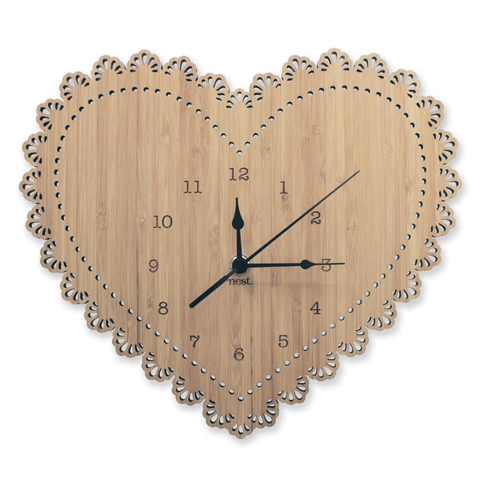 Nursery Wall Clocks - Bamboo Heart