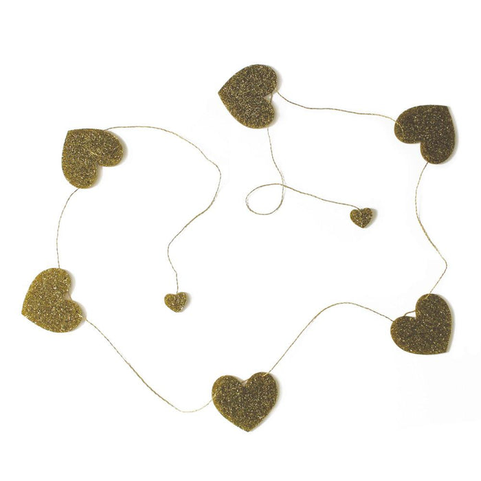 Love Hearts Garland Bedroom Accessory - Petit Luxe Bebe