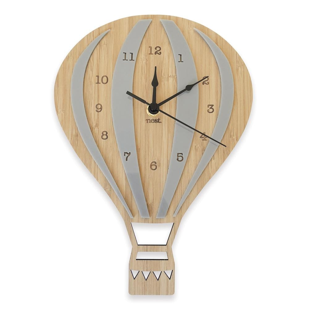Nursery Wall Clock - Hot Air Balloon (4 Colours!) - Petit Luxe Bebe