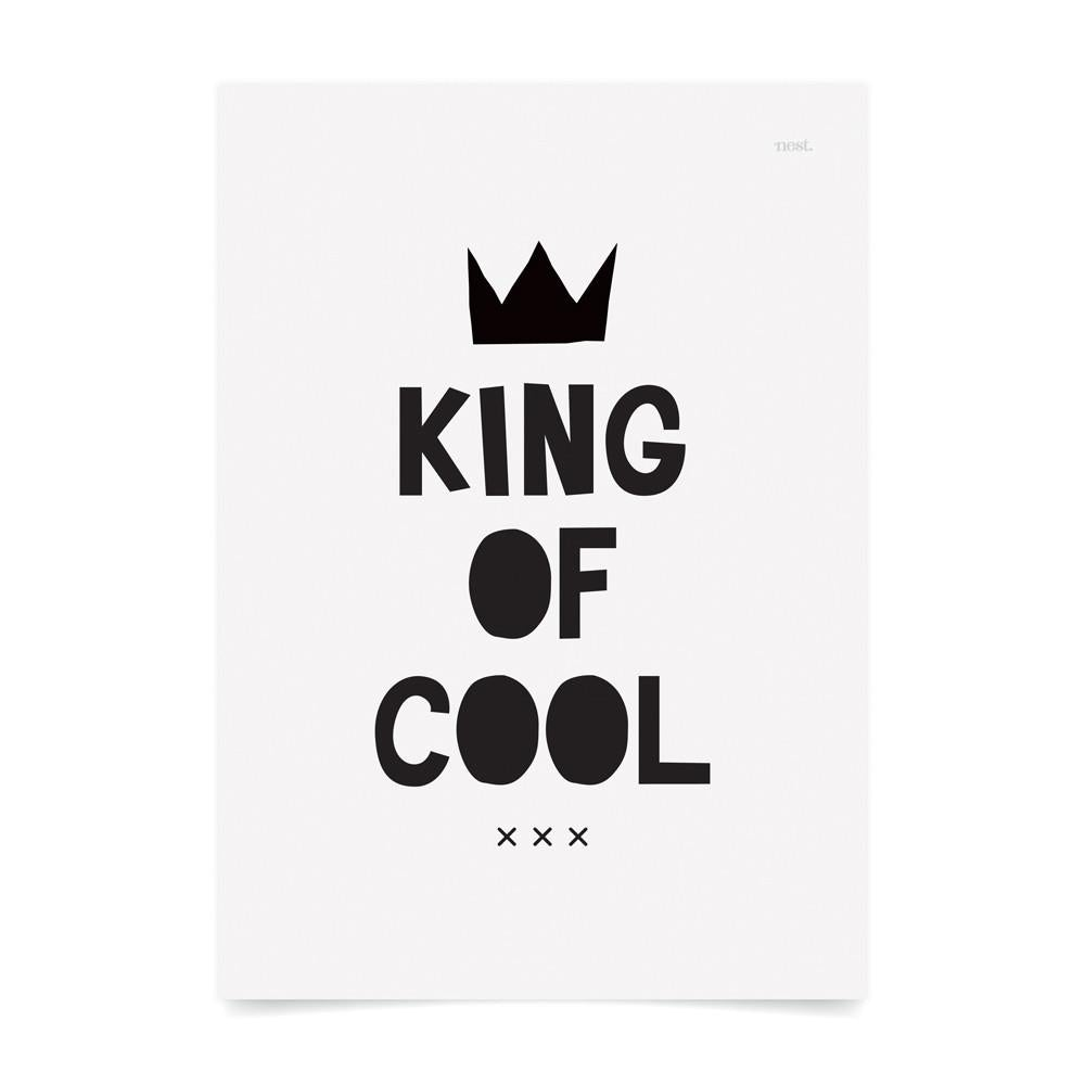 King Of Cool Kids Art Print - Petit Luxe Bebe