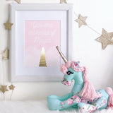 Magic Foil Art Print - Unicorn