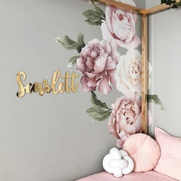 Personalised Name Plaque | Mirror Style - Petit Luxe Bebe