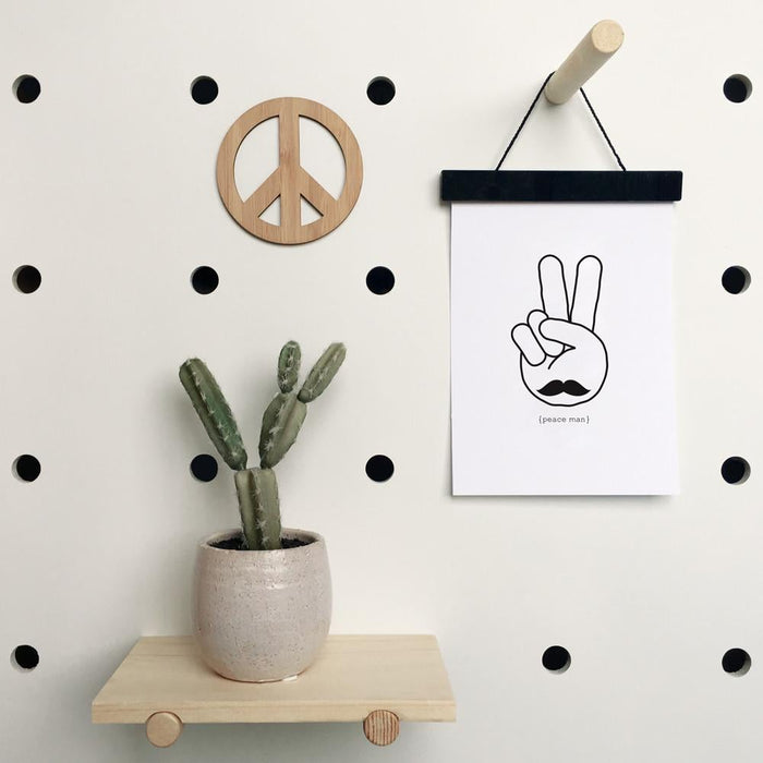 Peace Sign Bamboo Wall Art