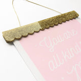 Art Print Hangers - Scalloped Edge