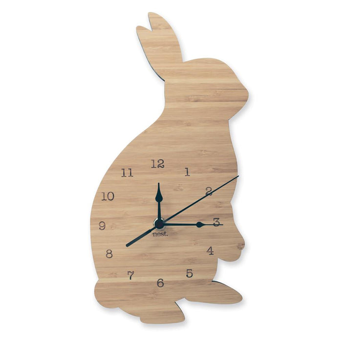 Nursery Wall Clocks - Bamboo Rabbit