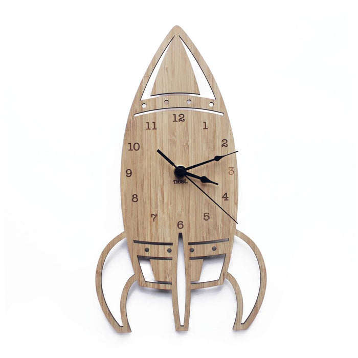 Nursery Wall Clocks - Bamboo Rocket
