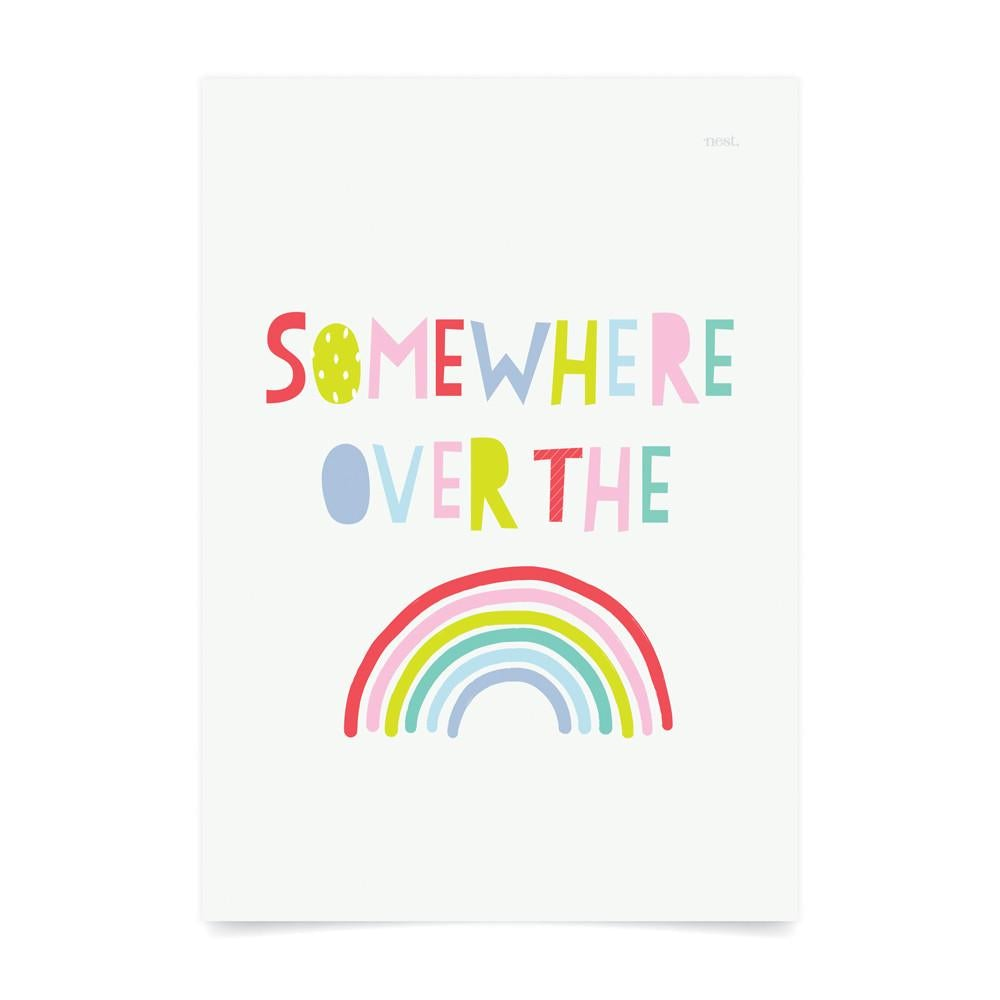 Somewhere Over The Rainbow Kids Art Print - Petit Luxe Bebe