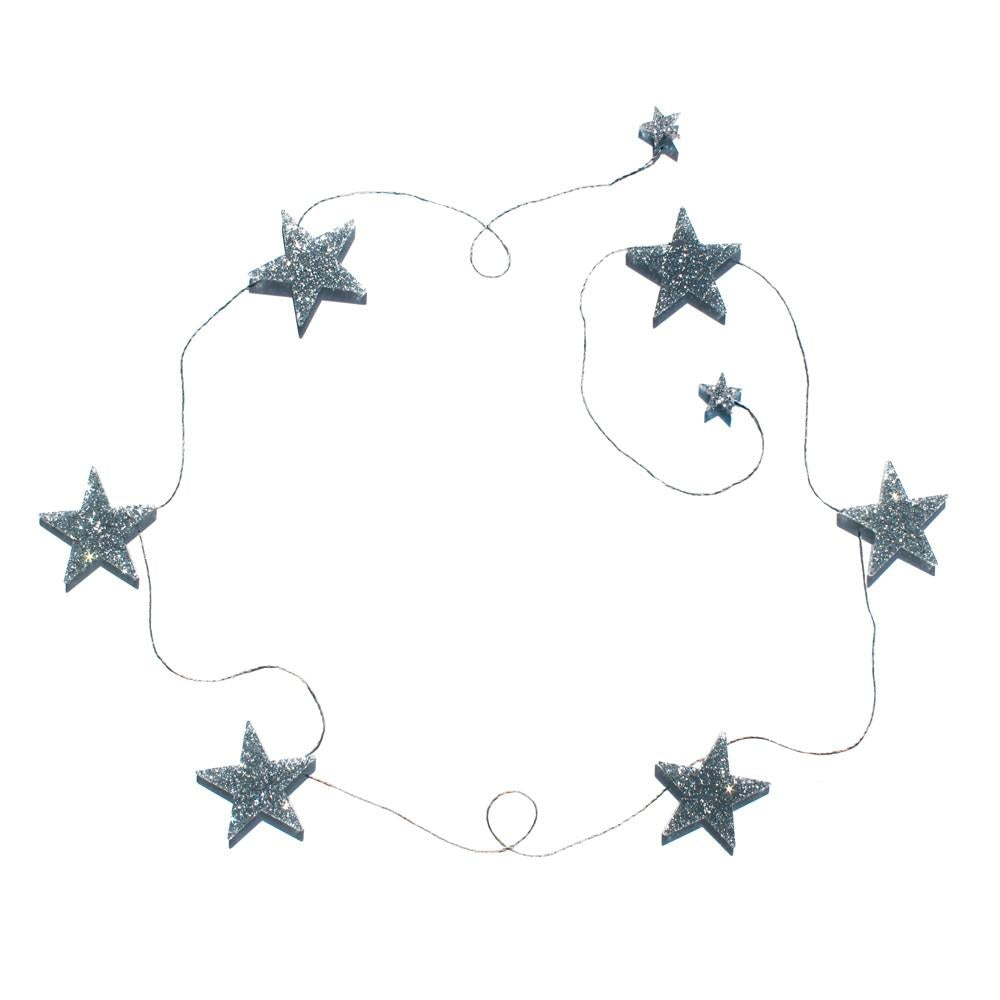 Shimmering Stars Garland Bedroom Accessory - Petit Luxe Bebe