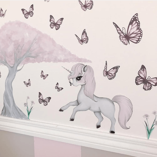 Rose The Enchanted Unicorn Wall Decal - Petit Luxe Bebe