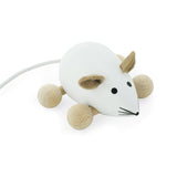 Snowflake - Wooden Push Along Mouse Toy