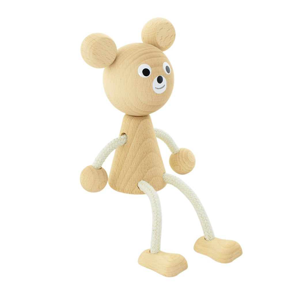 Sophie - Wooden Sitting Bear Toy - Petit Luxe Bebe