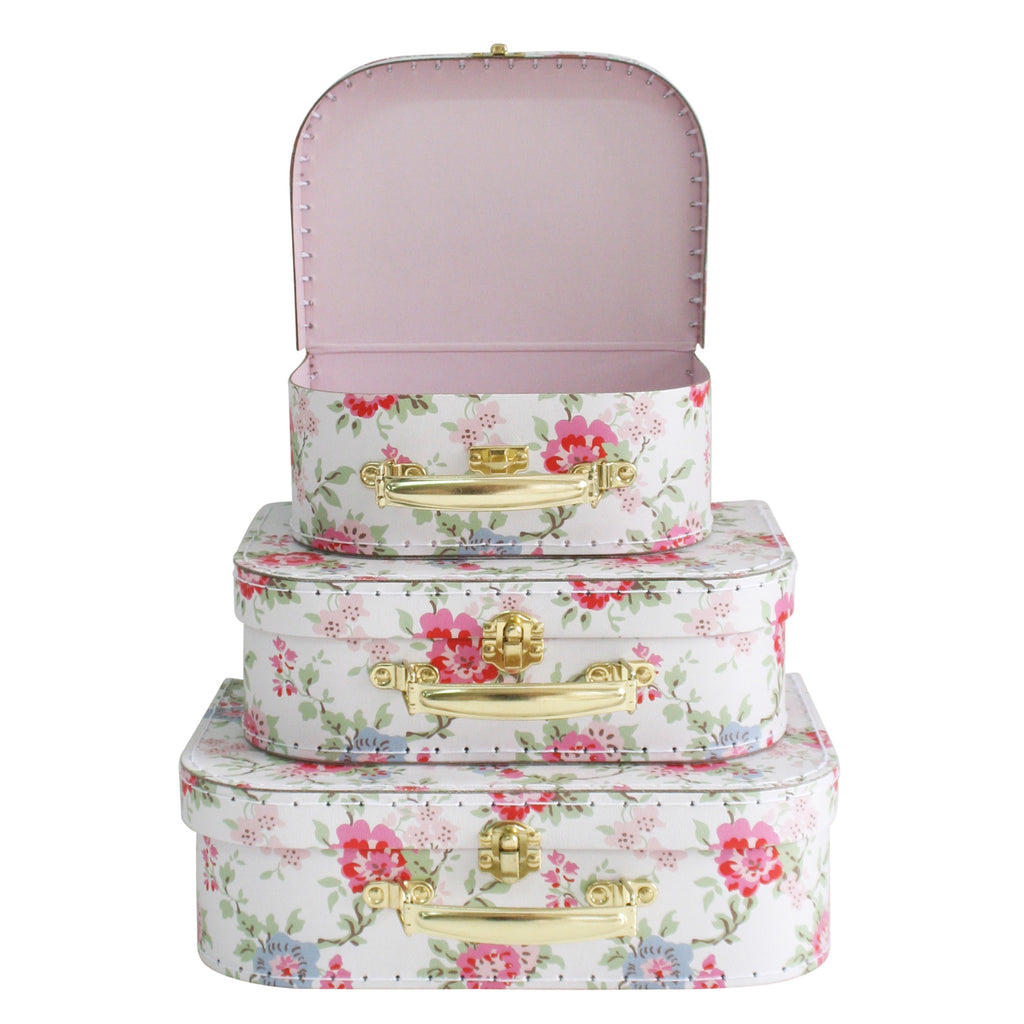 Kids Carry Suitcase Set - Cottage Rose - Petit Luxe Bebe