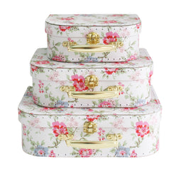 Kids Carry Suitcase Set - Cottage Rose