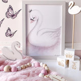 Angel - Enchanting Swan Art Print