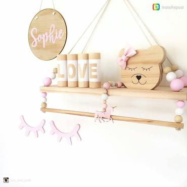 Custom Swing Shelf With Rail - Petit Luxe Bebe