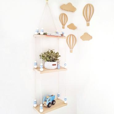 Triple Wooden Storage Swing Shelf - Petit Luxe Bebe
