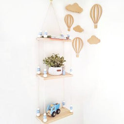 Triple Wooden Storage Swing Shelf