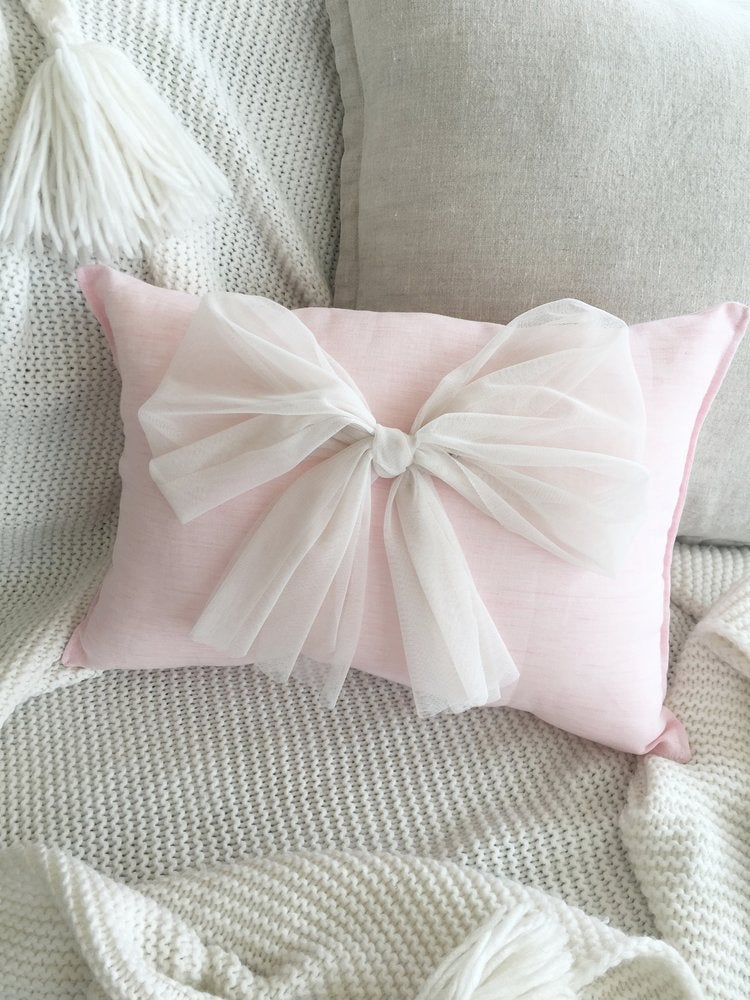 Custom Tulle Bow Cushion - Petit Luxe Bebe