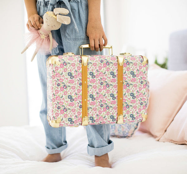 Alimrose Vintage Style Carry Case - Petit Floral - Petit Luxe Bebe