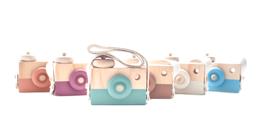 Wooden Toy Camera - Star White - Petit Luxe Bebe