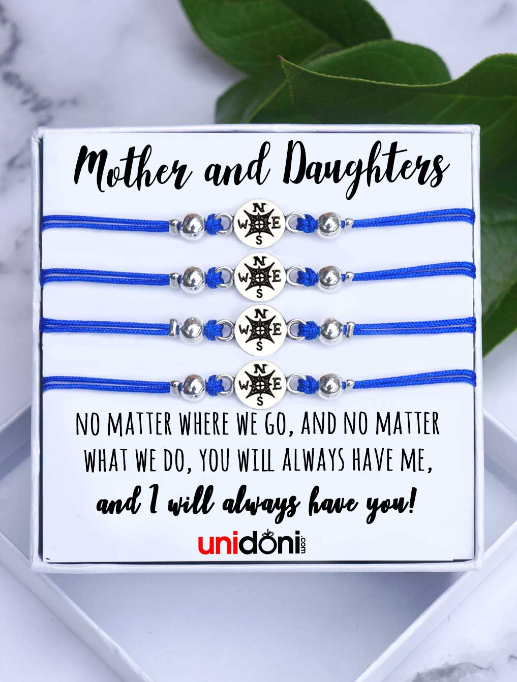 5ce5801a7e46 Set of Four Mother Daughters Bracelets No Matter Where No Matter What