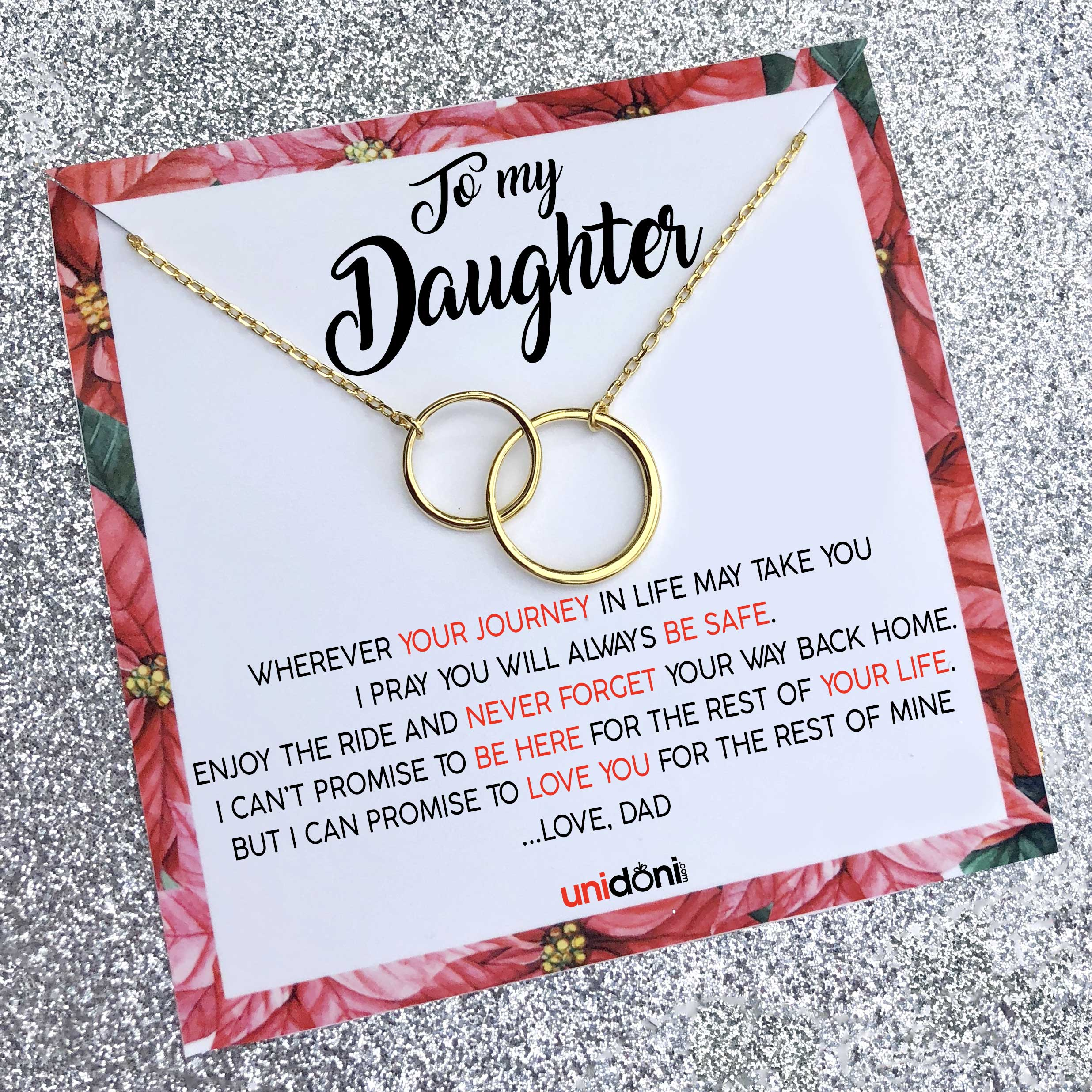 31848675e2b1 Love You Father Daughter Necklace  Daughter Gift 40% OFF - Unidoni