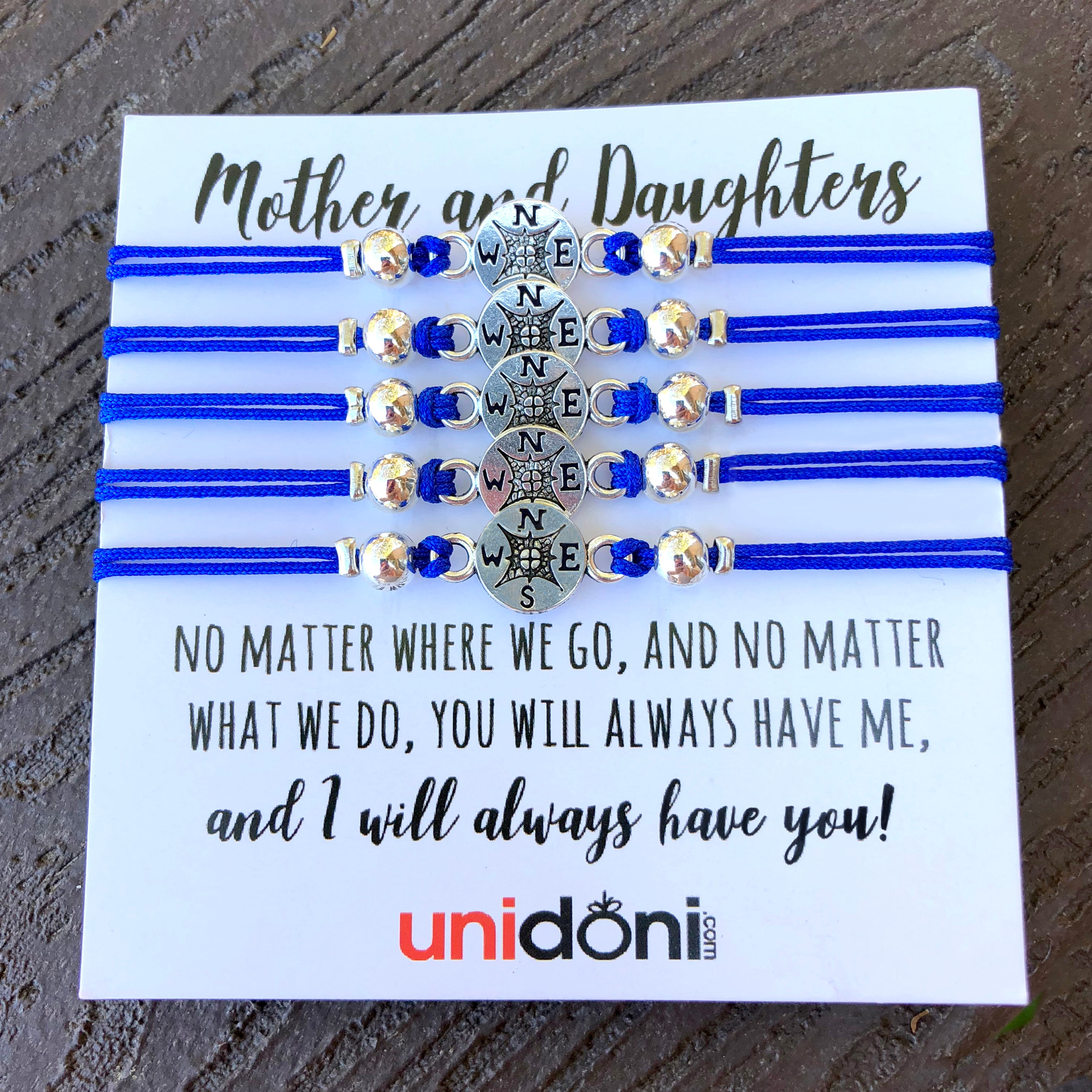 cd7757098668 Set of Five Mother Daughters Bracelets No Matter Where No Matter What