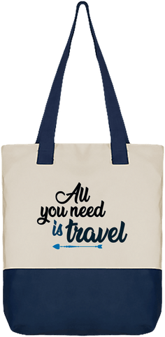 Sac Cabas Zippé All you need is travel