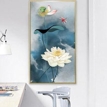 Foto laden in Gallery viewer, Lelie v.a. 50x100cm Diamond painting | Eigen foto | Dieren | Kopen | Dikke dames | Action | Nederland | Steentjes | Diamant | De Diamond Painter