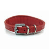 Red choker style leather collar with crystals  from Style Hound - back view