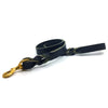 Black Latigo leather lead featuring a twisted design and brass snap from Style Hound-front view