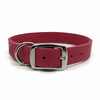 Butter soft grain leather collar in a hot flamingo colour from Style Hound-back view