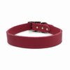 Butter soft grain leather collar in a hot flamingo colour from Style Hound-front view