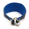 Crystal Hound Leather Collar - Blue