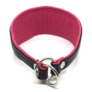 Crystal Hound Leather Collar - Pink