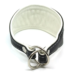 Crystal Hound Leather Collar - White
