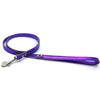 Purple metallic leather lead from Style Hound-front view