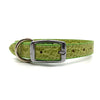 Mock crocodile leather collar in Green from Style Hound - back view