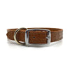 Mock crocodile leather collar in Mocha from Style Hound - back view